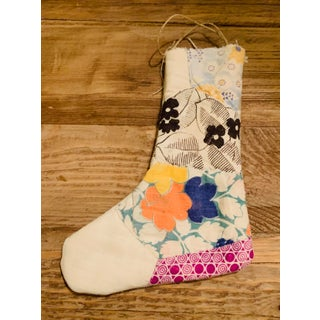 Handmade Stocking Ornaments Fashioned Out of Vintage Textiles - Set of 5 Preview