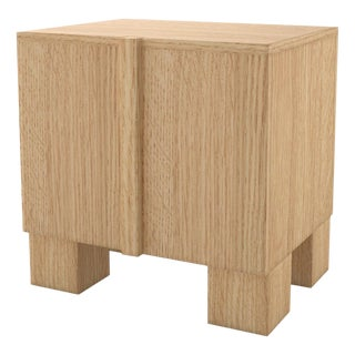 Contemporary 100 Bedside in Oak by Orphan Work, 2019 For Sale