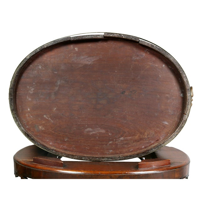 Late 18th Century George III Mahogany and Brass Mounted Wine Cooler For Sale - Image 5 of 11