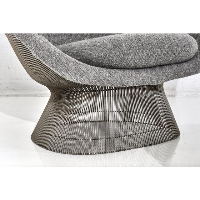 Knoll Warren Platner for Knoll Lounge Chair With Ottoman For Sale - Image 4 of 11