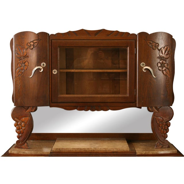 1920 French Art Deco Carved Grapes Buffet - Image 2 of 8