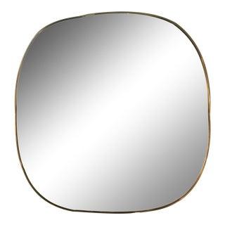 Metal Framed Wall Mirror Brass Finsh For Sale