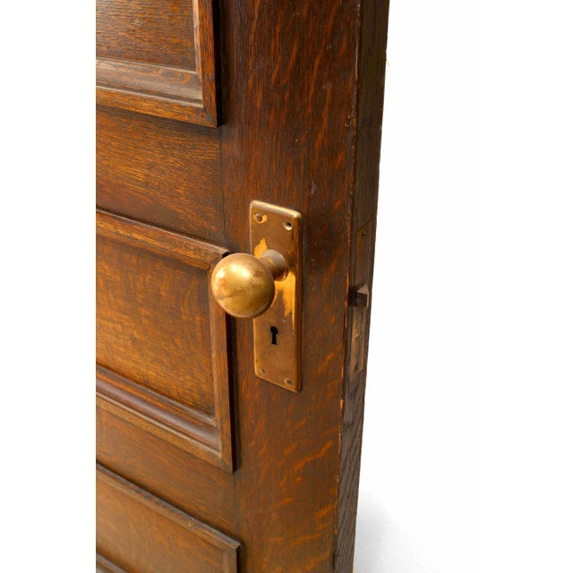 19th Century English Gothic Revival Paneled Oak Door For Sale - Image 4 of 5