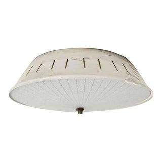 1950s Waldorf Astoria Flush Mount Dish Light For Sale