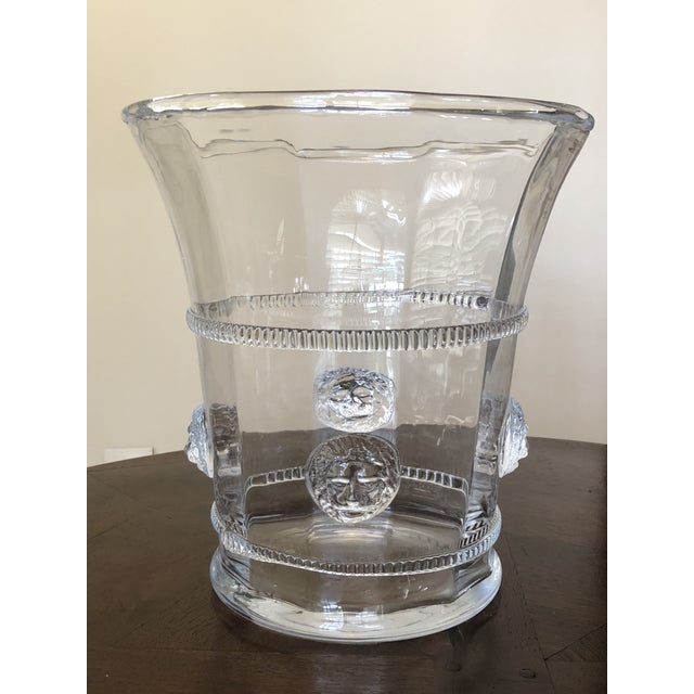 Late 20th Century Hand Blown Glass Champagne or Wine Cooler For Sale - Image 5 of 5