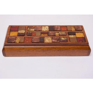 Mid-Century Modern Wooden Mosaic Jewelry Box by Lillian of California Preview