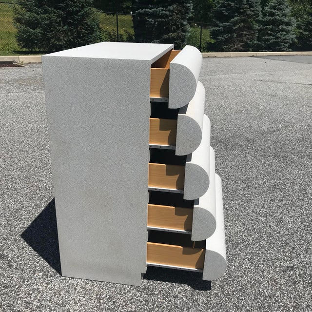 1980s Modern Curvaceous Sculptural Laminate Highboy Dresser For Sale In Philadelphia - Image 6 of 11