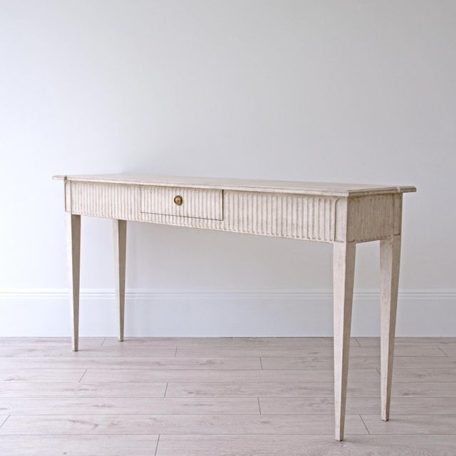 White Göran Swedish Console Table For Sale - Image 8 of 8