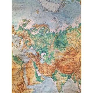Mid Century Modern Wall Map Eurasia Classroom Wall Map Tibet Russian Map 7 Ft Preview