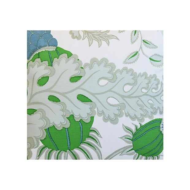 "Early 21st Century Designer Michael Szell Bold Botanical Feather/Down Pillow 21"" Square For Sale - Image 5 of 6"