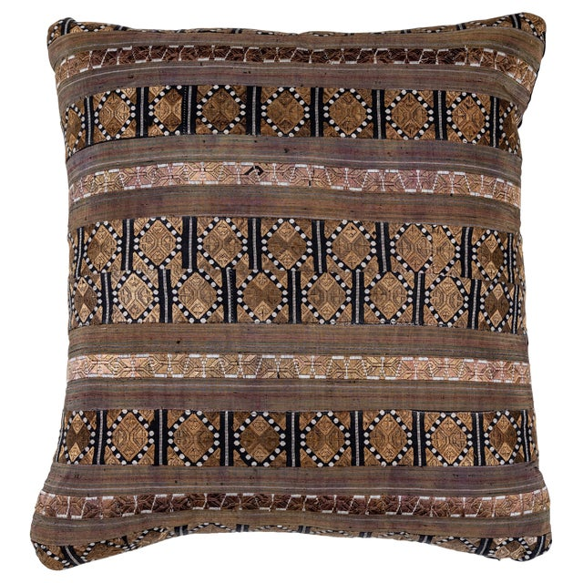 Chinese Silk Ribbon Pillow For Sale