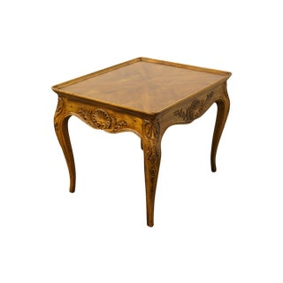 Henredon Furniture Villandry Collection Louis XVI Country French Bookmatched Top Accent End Table 41-3201 For Sale