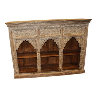 Antique Indian Jharokha Triple Arch Wall Shelf For Sale