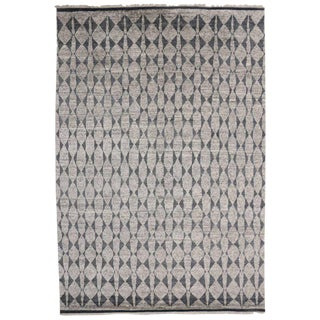 Contemporary Gray Moroccan Area Rug - 9′2″ × 13′4″ For Sale