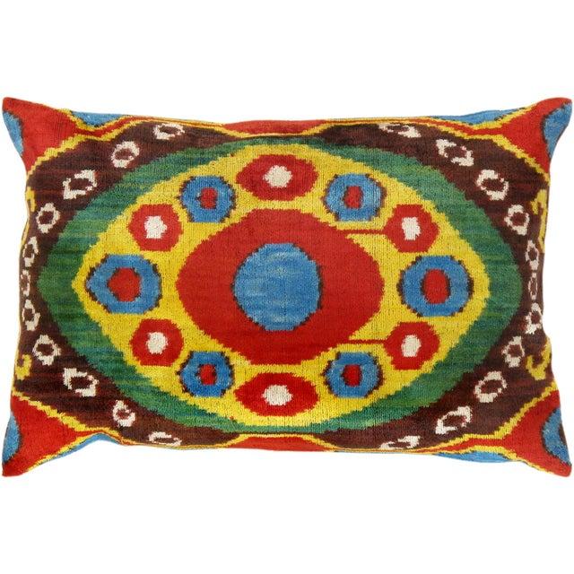 """Silk Velvet Ikat Pillows 16"""" X 24"""" - Image 1 of 2"""