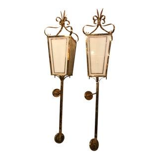 Brass Wall Mounted Bedside Lighting - A Pair