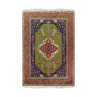Wool Tabriz Rug- 4′7″ × 6′6″ For Sale