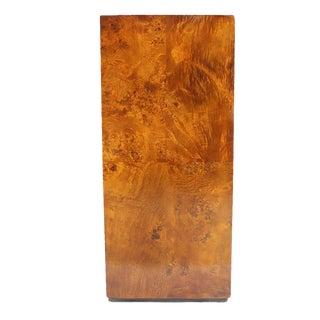 Burl Wood Mid-Century Modern Pedestal For Sale