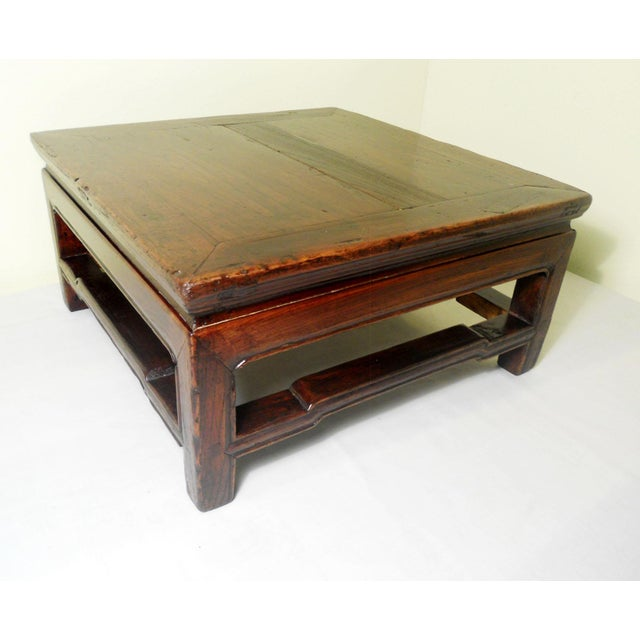 """This Antique Chinese Square Coffee Table is also known as """"Kang"""" Table in China. The table is handcrafted in elegant Ming..."""