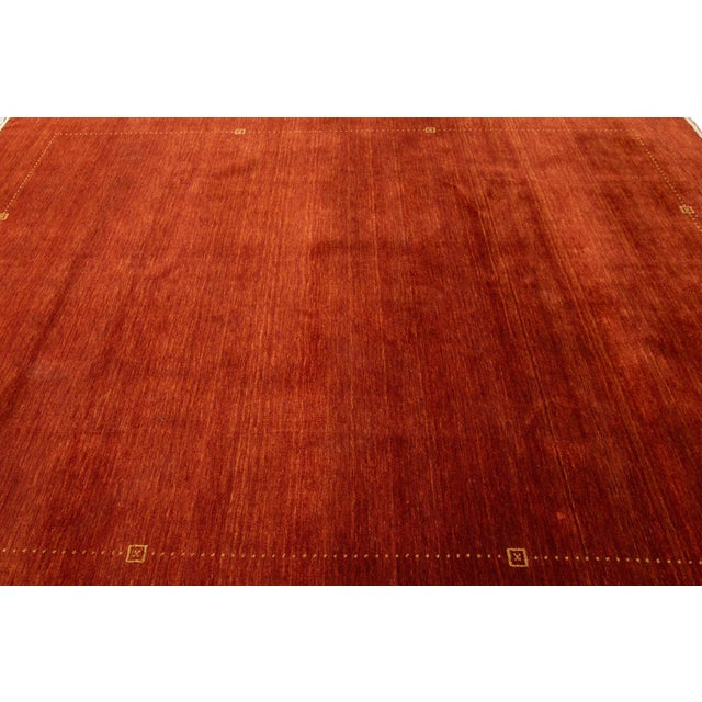 """Modern Modern Indian Gabbeh Style Rug, 8'2"""" X 10'1"""" For Sale - Image 3 of 6"""