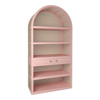 Leila Etagere Bookcase - Coral Dust
