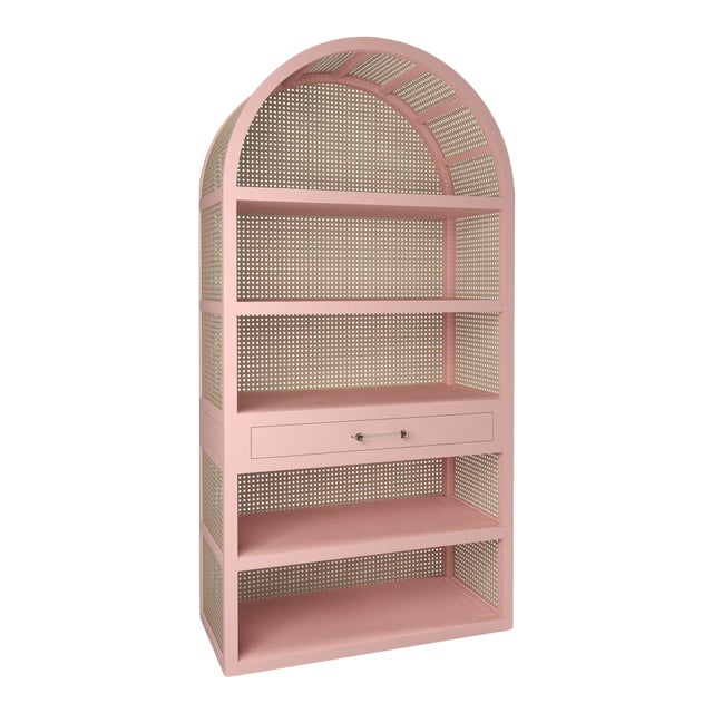 Leila Etagere Bookcase - Coral Dust For Sale