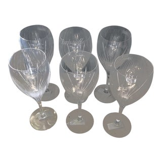 Christofle Crystal Red Wine Glasses - Set of 6 For Sale