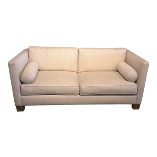 White Scalamandre Upholstered Sofa For Sale