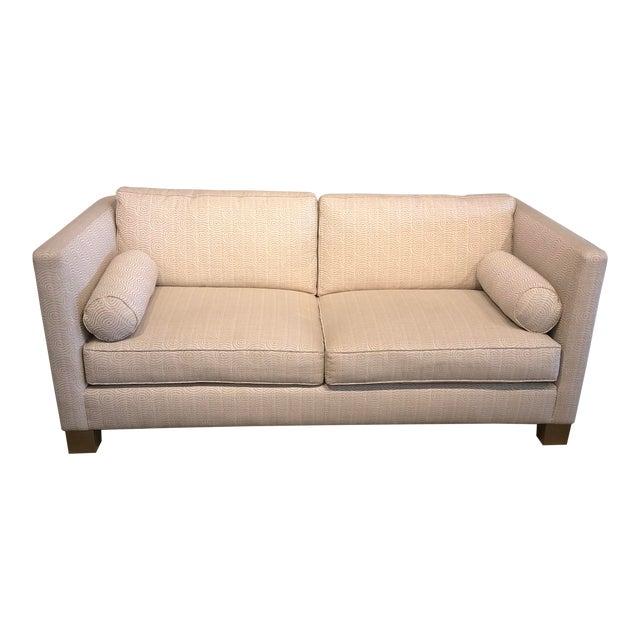 White Scalamandre Upholstered Sofa For Sale