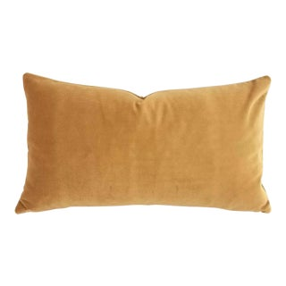 F. Schumacher Gainsborough Velvet Mocha Lumbar Pillow Cover For Sale