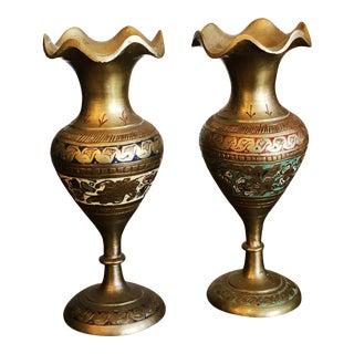 Vintage Indian Brass Vases For Sale