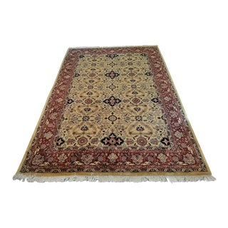 Large Vintage Red and Gold Persian Tabriz Area Rug For Sale