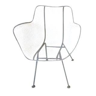 1950s Russell Woodard Sculptura Welded Wire Armchair For Sale