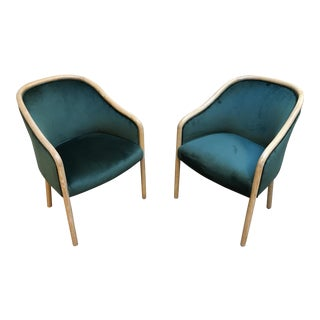 1980s Vintage Ward Bennet Cerused Oak Chairs- A Pair For Sale