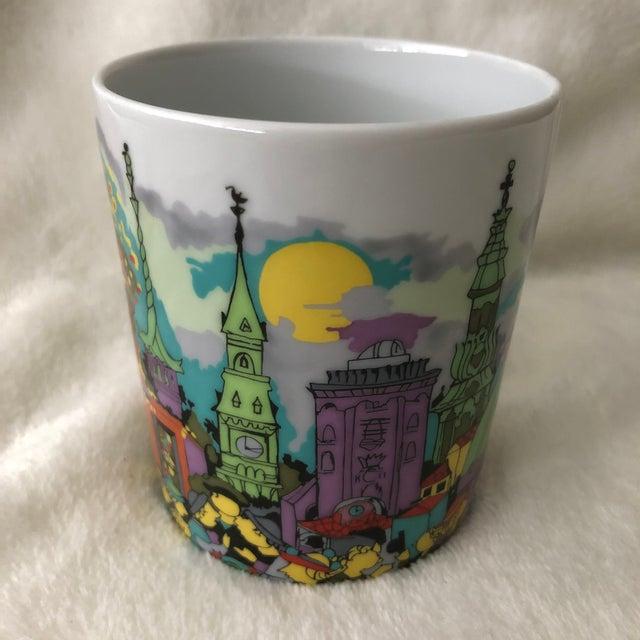 Vintage 1980s Bjorn Wiinblaad porcelain mug featuring gorgeous wrap around Copenhagen scene including The Little Mermaid...
