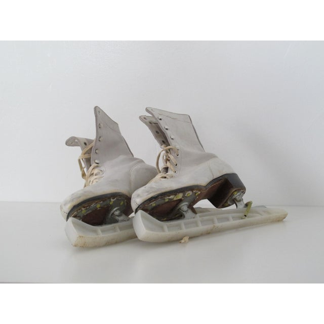 Vintage White Ice Skates - Pair - Image 3 of 5
