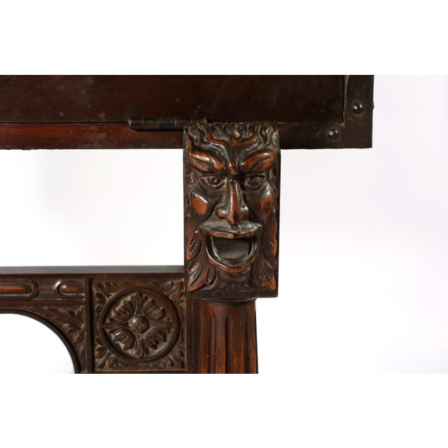 Copper 8th Century Baroque Style Cabinet on Stand / Bargueno / Vargueno For Sale - Image 8 of 13