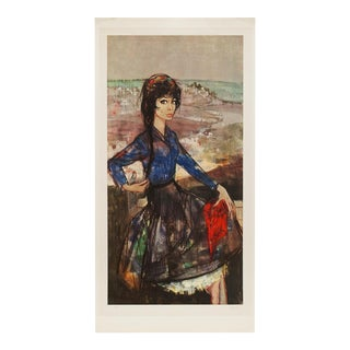 "XL 1964 Jean-Baptiste Valadie ""Laurette"", First Edition Period English Lithograph For Sale"