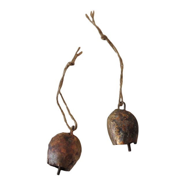Pair of Gold Leaf Iron Indian Holiday Christmas Tree Ornaments For Sale