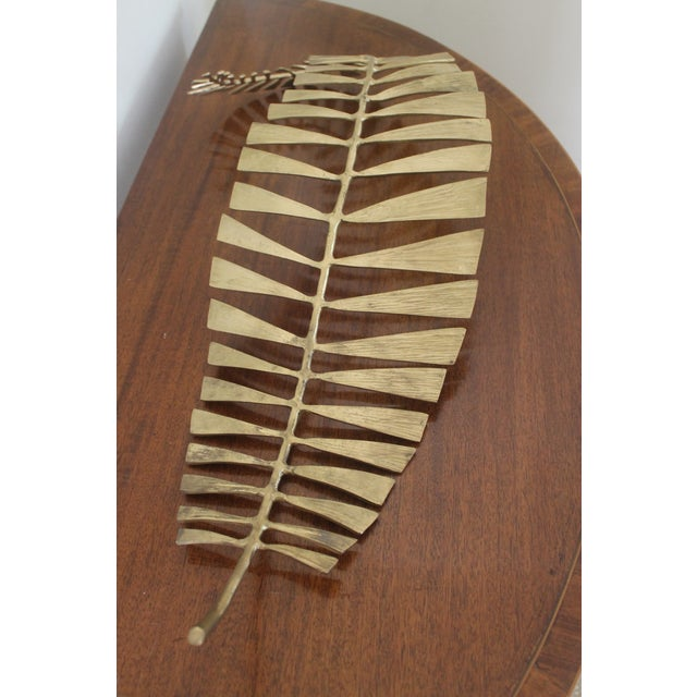 2010s Interlude Home Brass Fern Leaf Tray For Sale - Image 5 of 9