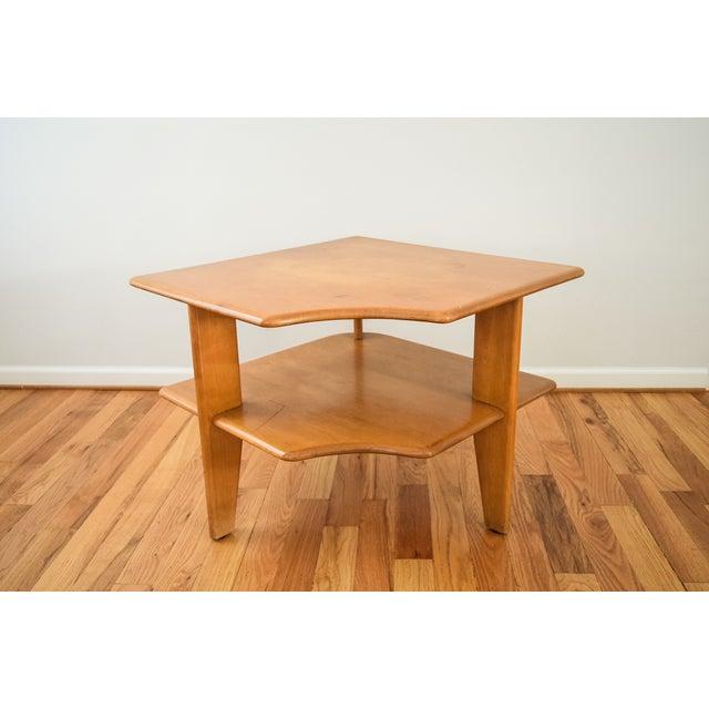 Heywood Wakefield Mid Century Coffee Table End Tables: Heywood-Wakefield Mid-Century Corner End Table