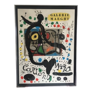 Joan Miró Galerie Maeght Framed Exhibition Poster For Sale