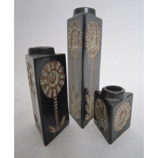 Mid-Century Studio Pottery Vases - Set of 3 - Image 3 of 3