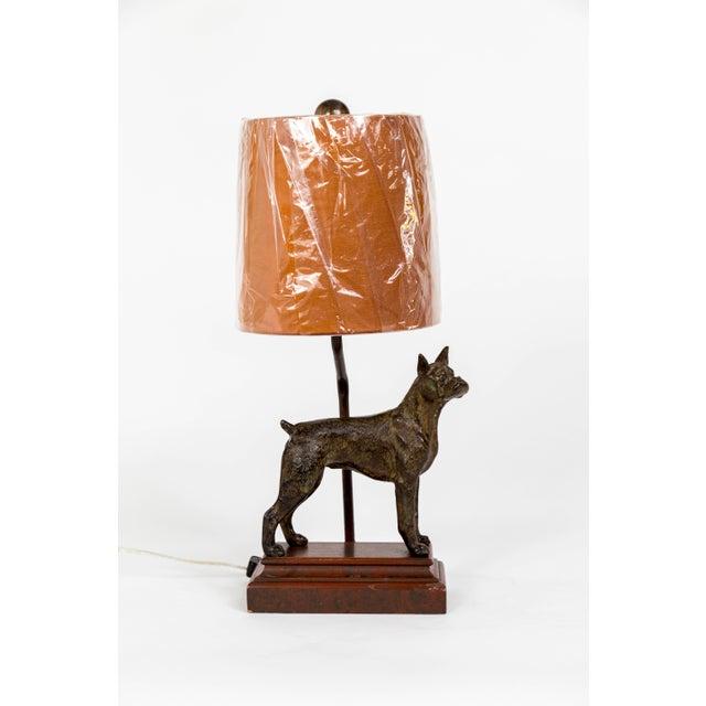 Cast Bronze Dog Sculpture Lamp For Sale - Image 10 of 12