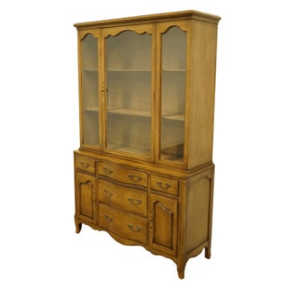 1950s French Country Drexel Heritage Buffet With Display China Cabinet Preview