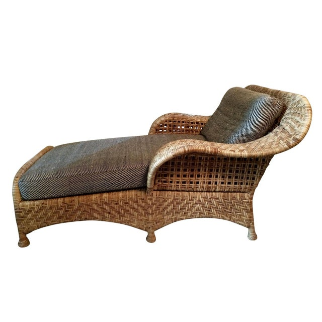 Wicker Chaise Lounge - Image 1 of 5