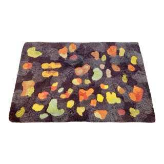 Vintage Edward Fields Abstract Wool Rug - 4′1″ × 6′2″ For Sale