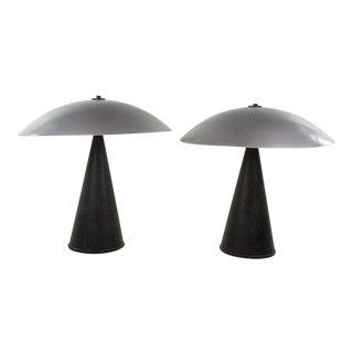 1980 Mushroom Lamps - A Pair