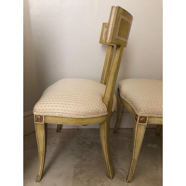 Mid Century Klismos Dining Chairs- Set of 4 For Sale - Image 6 of 13