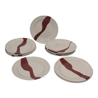 Tiffany & Co. Terra Cotta Earthenware Plates - Set of 12